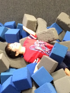 Foam block pit= bliss!